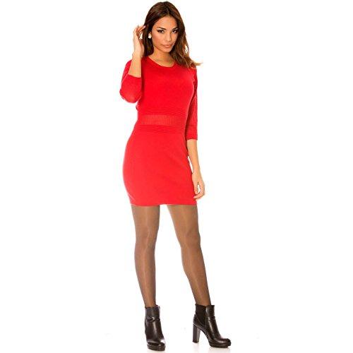 Miss Wear Line - Robe rouge très tendance en tricot