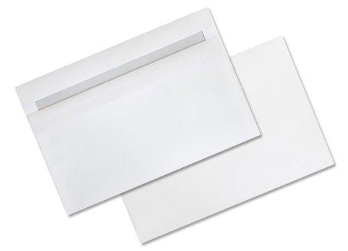 100 Umschläge C6 weiß selbstklebend ohne Fenster
