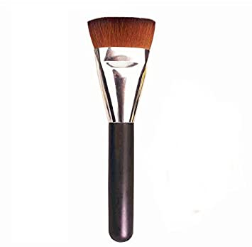 flat contour brush. hosl flat contour brush foundation makeup brushes-1 pcs silver and black color ( e