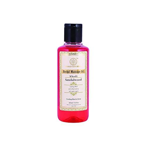 Khadi Natural Herbal Ayurvedic Sandalwood Massage Oil for all Skin Types (210 ml) ()
