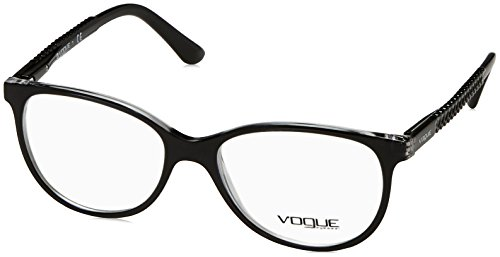 (Vogue VO5030 Eyeglass Frames W827-53 - Top Black/Transparent)