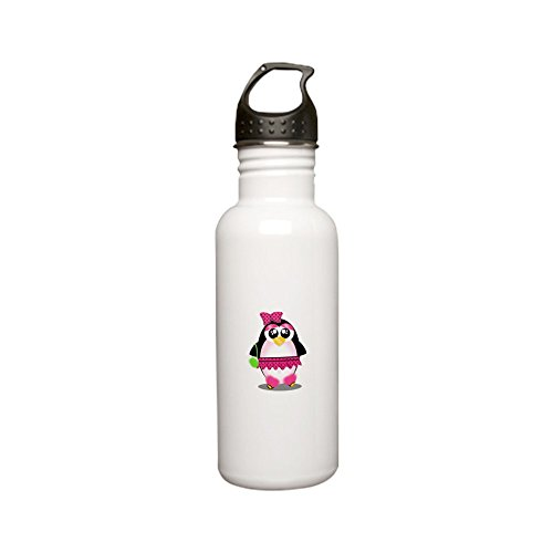 CafePress - Hot Pink Penguin Stainless Steel Water Bottle - Stainless Steel Water Bottle, 0.6L Sports Bottle