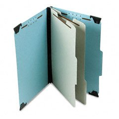 Pendaflex Hanging Classification Folders, Legal Size, 6 Section, 2'' Expansion, Blue, 1/3 Cut, 10/BX (59352EE)