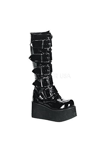 Demonia by Pleaser Men's Trashville-518 Goth Boot,Black Patent,13 M US