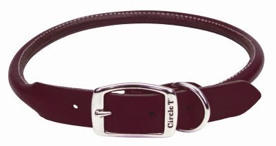 Coastal Pet Products Circle T Leather Round Dog Collar, 3/4'' x 18'', Latigo