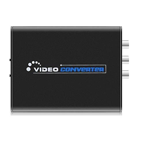 - Portable Composite Video Audio Converter DC 5V Mini HDMI to 3RCA AV CVBS Composite & S-Video R/L Audio Adapter