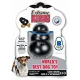Kong EXTREME dog pet toy Dental chew Size:XLarge Pack of 2 Color:Black
