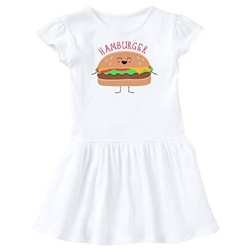 inktastic - Hamburger Costume Toddler Dress 5/6 White -