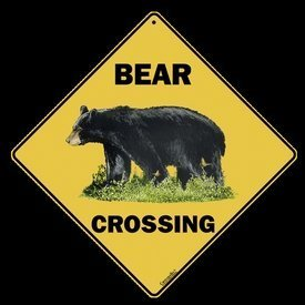 Bear Crossing Sign - Bear Decor (Sign Bear Crossing)