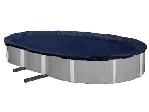 - Blue Wave Bronze 8-Year 12-ft x 20-ft Oval Above Ground Pool Winter Cover