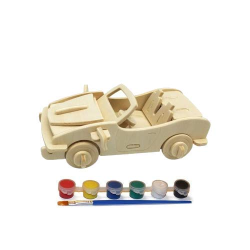 Original Hobby Wood Craft 3D Puzzle Limited Wincent Technology Trading Co Jeep//Motorcycle 2-Pack