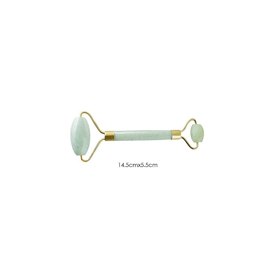 Finlon Anti age Facial Jade Roller Massager Facial Massage Face Slimmer Thin massager Slimming Tool for Body Head Neck Nature Beauty Device