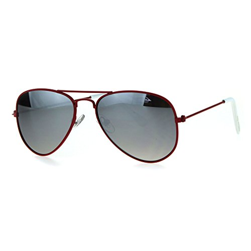 Kids Child Size Wire Rim Mirror Lens Police Style Pilots Sunglasses - Sunglasses Police By