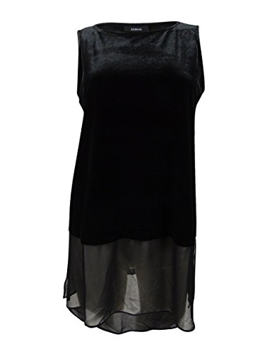 Alfani Women's Sleeveless Velvet Top (XL, Deep (Alfani Sleeveless)