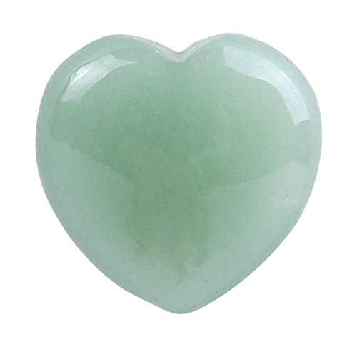 Bead Natur Stone - Natural Green Aventurine Stone Carved Heart Shaped Quartz Reiki Healing Crystal Palm Stones Home - Statues Sculptures Statues Sculptures Jewelry Reiki Condom Latex Glass Neckla ()
