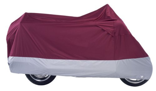 Nelson-Rigg Deluxe Motorcycle Cover (XX-Large) (Burgundy Silver) ()