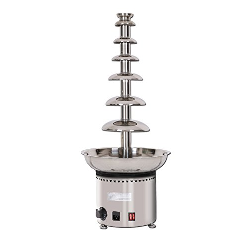7 Chocolate Fountain Creative Design Chocolate Melt With Heating Machine Party Hotel Commercial Chocolate Waterfall Fountain ()