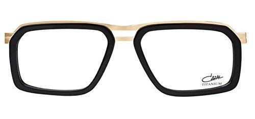 Cazal 6014 Eyeglasses 001 Black-Gold / Clear Lens 56 - Cazal Clear