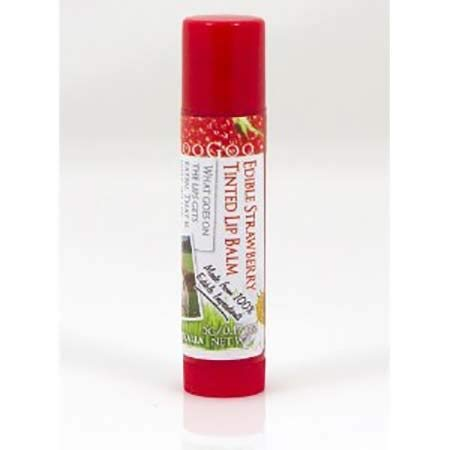 #MC MOOGOO Strawberry Tinted Edible Lip Balm 5g-Moisturising and Conditioning Lip Balm,Very Subtle and Natural Looking ()