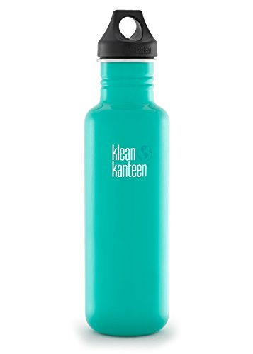 Klean Kanteen Tidal Pool Classic Water Bottle with Loop Cap, 27-Ounce by Klean Kanteen