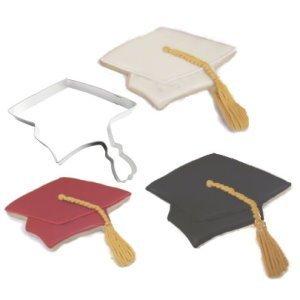 Dr.Luck 1 X Graduation Cap Metal Cookie Cutter ()