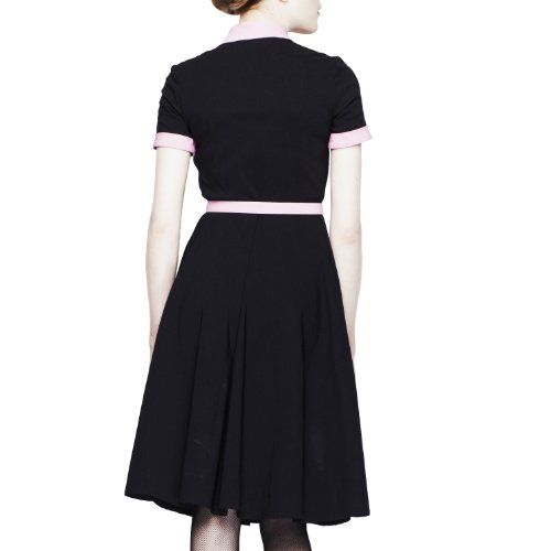 DRESS Kleid Black Hell Pink Bunny pink black POESY 4216 tSqgwBq