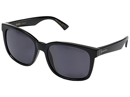 VonZipper Unisex Howl Polarized Black Gloss/Vintage Grey Wildlife Sunglasses (Sunglasses Vintage Zipper Von)