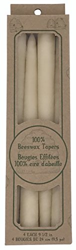 Beeswax Taper Candles Natural Cotton product image