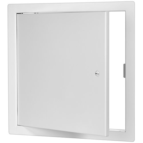 Premier 2002 Series Steel Access Door, 10 x 10 Flush Universal Mount, White (Screwdriver Latch) by Premier Access Doors