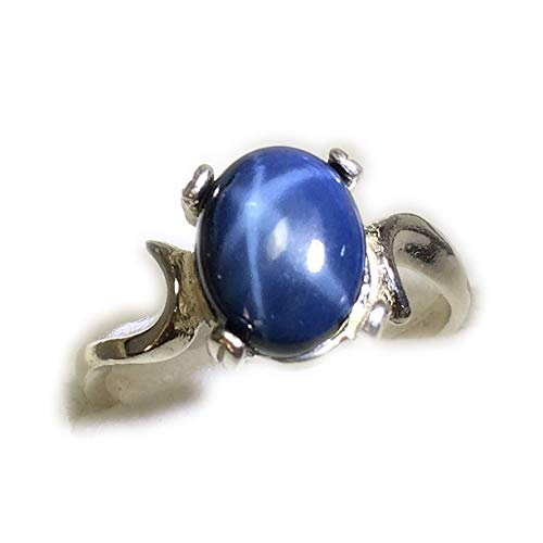 Rocks2Rings Star Sapphire Ring 925 - Sterling Silver Jewelry, 8 x 10 mm Gemstone, Elegant Gift Box Rocks2Rings 2SSR5