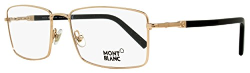 Mont Blanc MB0583 028 Designer Optical Frames, Shiny Rose Gold/Black, - Outlet Optical Frames