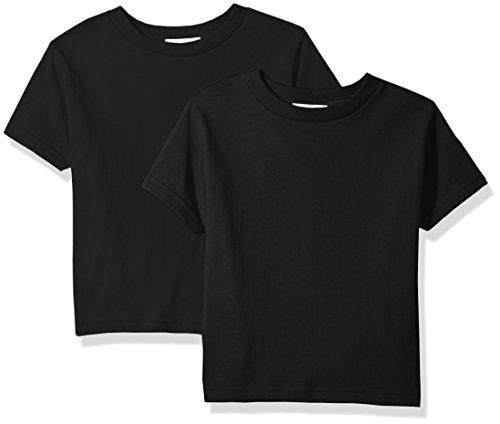Clementine Unisex Baby Boy Everyday Short Sleeve Toddler T-Shirts Crew 2-Pack, White/Ash Grey, 5/6 -