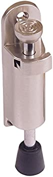 BRINOX Retenedor Vertical para Puerta, INOX Satinado, 2.7x12x3.3 cm