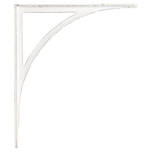 Naiture Large Iron Shelf Bracket In Distressed White Finish