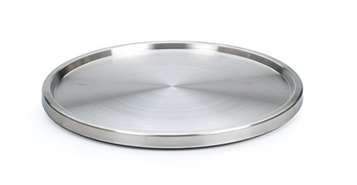 RSVP International TURN-1 Single Turntable, 10.5 Inch, Stainless Steel