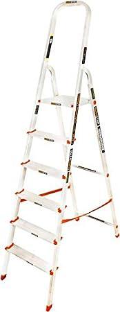 Eurostar 104 Aluminium Ladder with Platform (Silver)