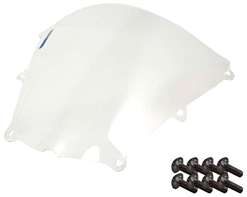 Sportbike Windscreens ADHW-102C Clear Windscreen (Honda Cbr 600RR (05-06) With Silver screw kit), 2 Pack