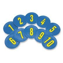 SSG/BSN Numbered Poly Spots Select Number Set (1-10) - Numbered Poly Spots Set