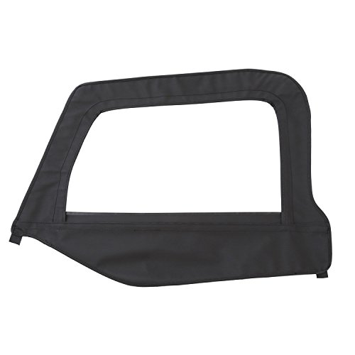 Smittybilt Door Skin (Smittybilt 79415 Denim Black Driver Side OEM Replacement Soft Top Door Skin with Frame)