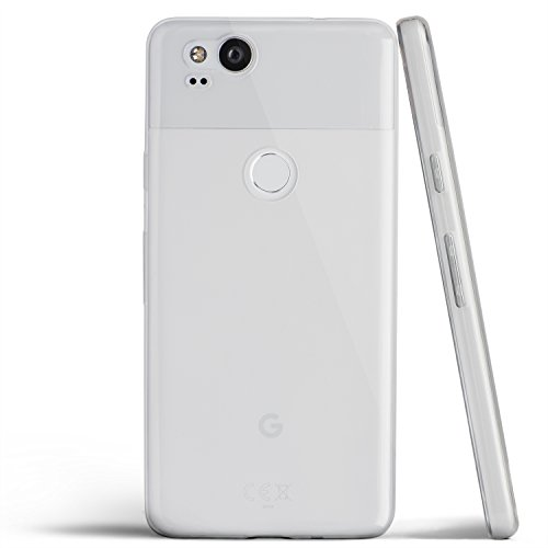 totallee Pixel 2 Case, Thinnest Cover Premium Ultra Thin Light Slim Minimal Anti-Scratch Protective TPU - for Google Pixel 2 Clear (Soft)