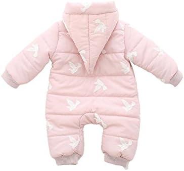 Recién nacido bebé Pelele mono Down Cute Outfit escalada ropa bebé Jersey Niñas Niños/Abrigo Con Capucha Cremallera Regalo pies, B, 90 cm