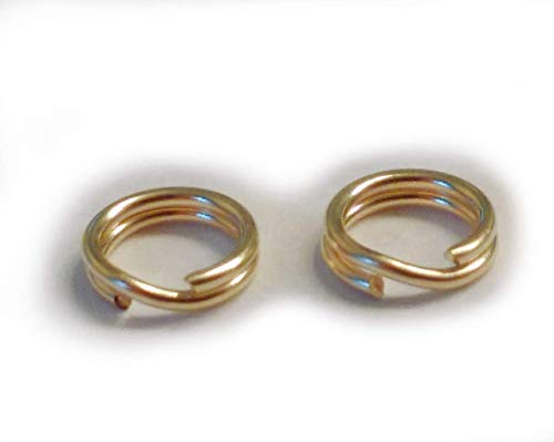 JensFindings 2 Qty. Genuine 14k Gold Split Rings (5mm splitring Diameter, About 0.20 inch)