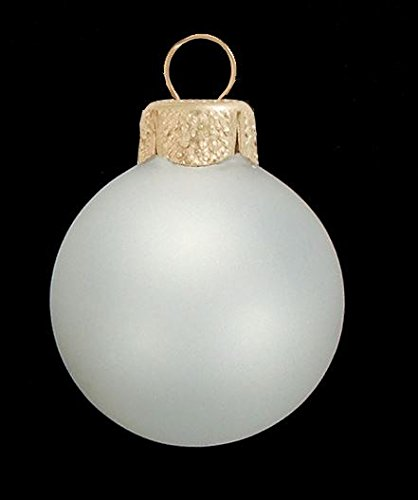Frosted White Glass Ball Christmas Ornaments Set of 20 1.25 Inch