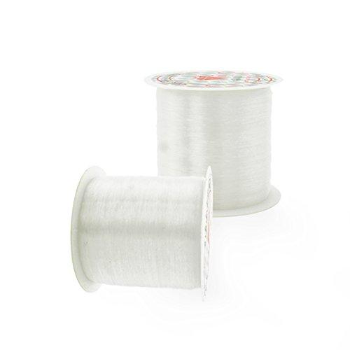0.2 mm Fishing Line – YSLF Diameter in 0.2 mm 169 Yard Clear Nylon Non-Flexible Fishing Line Beading Thread