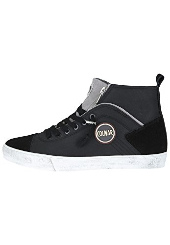 COLMAR Durden Colors 043 sneakers hi uomo PELLE BLACK GRAY NERO Inverno 2018
