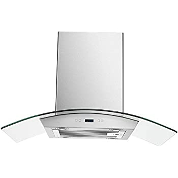 "CAVALIERE 36"" Inch Island Mounted Stainless Steel Kitchen Range Hood"