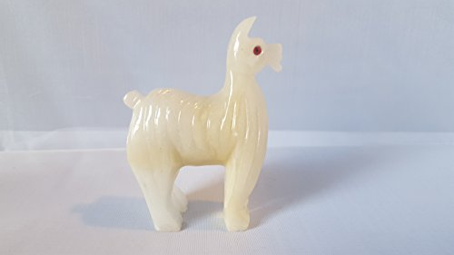 Figurine Peru Art (Calcite Hand Carved Llama 3.25 Inches Height)