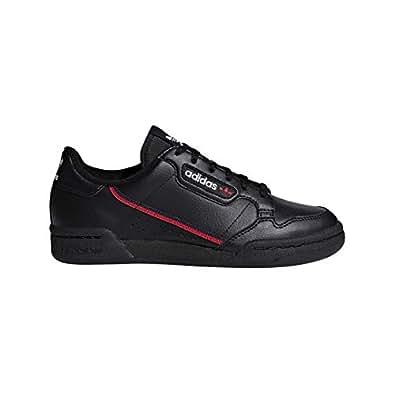 adidas Originals Unisex Continental 80 Sneaker Black/Scarlet/Collegiate Navy 1 Medium US Little Kid