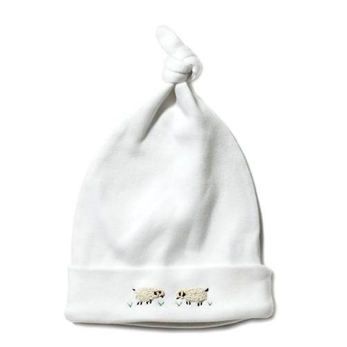 Jacaranda Living Knotted Hat, Cream Sheep, 3-6 Months