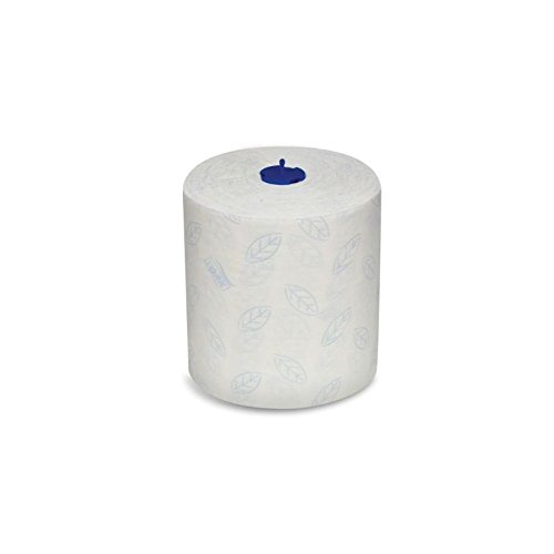 SCA Tork Soft Premium Hand Towel Roll, White W/Leaf, 300' Per Roll, 6 Rolls Per Case by SCA